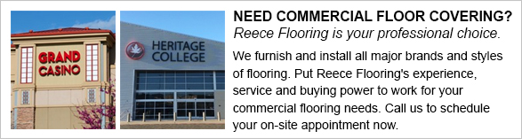 Reece Flooring is your professional choice for commercial flooring in the Shawnee area.